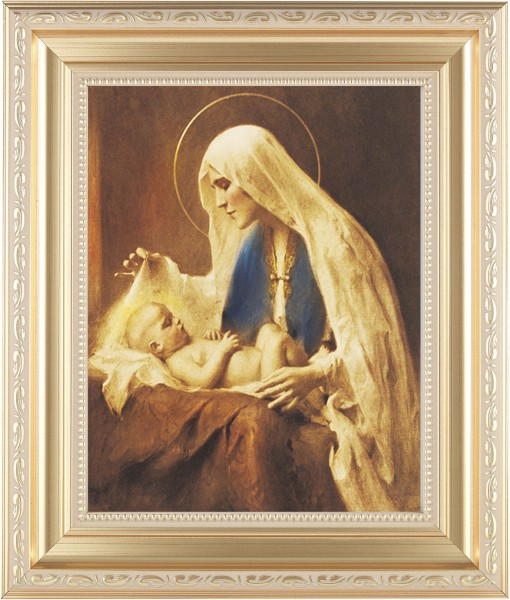 Madonna Adoring the Christ Child Framed Print - #138 Frame