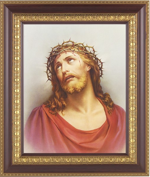 Christ Head of Thorns Framed Print - #126 Frame