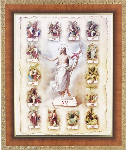 Stations of the Cross Illustrated Framed Print - #122 Frame