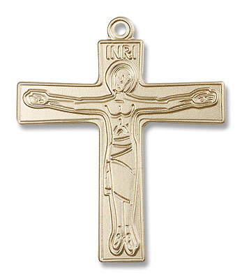 Cursillio Cross Pendant - 14K Solid Gold