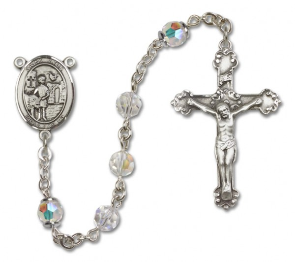 St. Vitus Rosary Heirloom Fancy Crucifix - Crystal