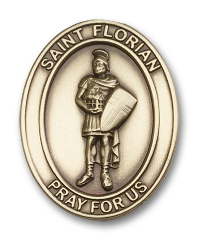 St. Florian Visor Clip - Antique Gold
