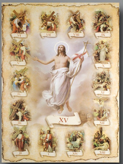 Stations of the Cross Large Poster - Full Color