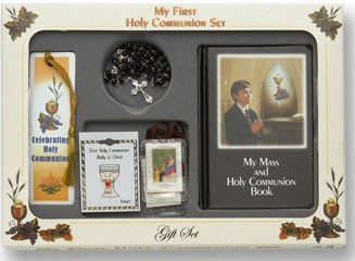 "Boy's ""My First Holy Communion Gift Set"" - Black"