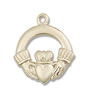 Claddagh Pendant - 14K Solid Gold