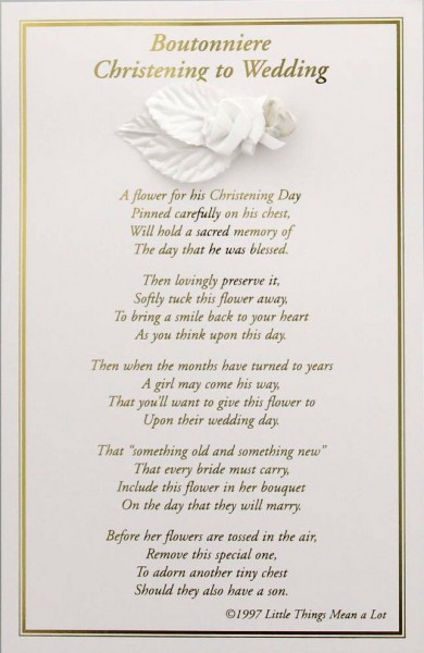 Boys Christening to Wedding Boutonniere - White