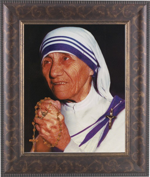 Mother Teresa Framed Print - #124 Frame