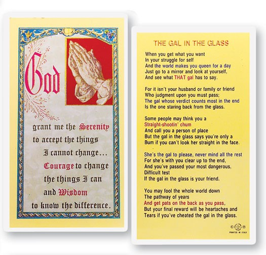 Gal In the Glass Laminated Prayer Cards 25 Pack - Full Color