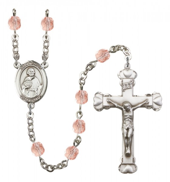 Women's St. Philip the Apostle Birthstone Rosary - Pink
