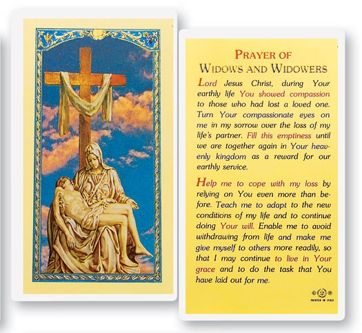 Prayer For Widows and Widowers Laminated Prayer Cards 25 Pack - Full Color