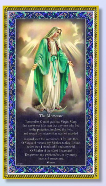 Our Lady of Grace Italian Prayer Plaque - Multi-Color
