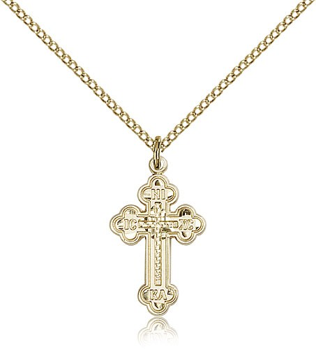 Russian Cross Medal - 14KT Gold Filled