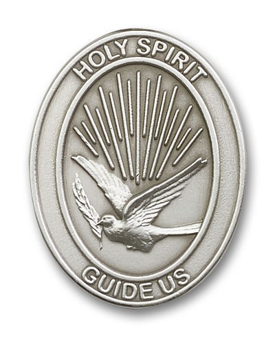 Holy Spirit Visor Clip - Antique Silver