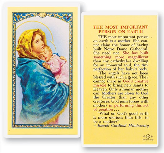 Most Important Person On Earth Laminated Prayer Cards 25 Pack - Full Color