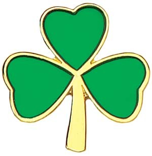 "Irish Clover Lapel Pin - 1"" - Green 