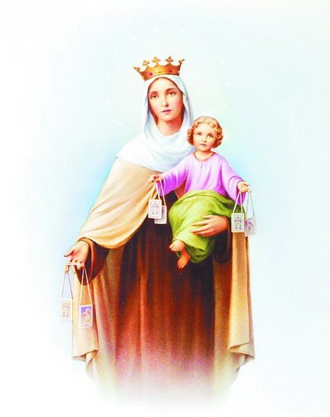 Our Lady of Mt. Carmel Print - Sold in 3 per pack - Multi-Color