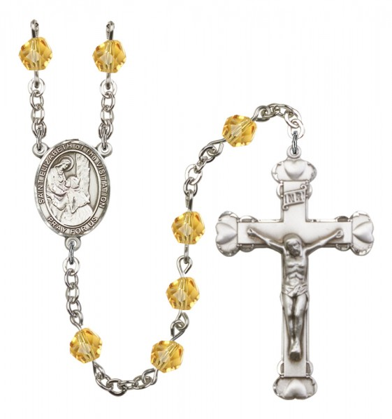 Women's St. Elizabeth of the Visitation Birthstone Rosary - Topaz