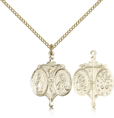 Novena Pendant Necklace - 14KT Gold Filled