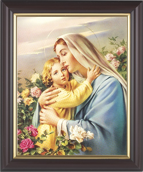 Madonna and Child in the Garden Framed Print - #133 Frame