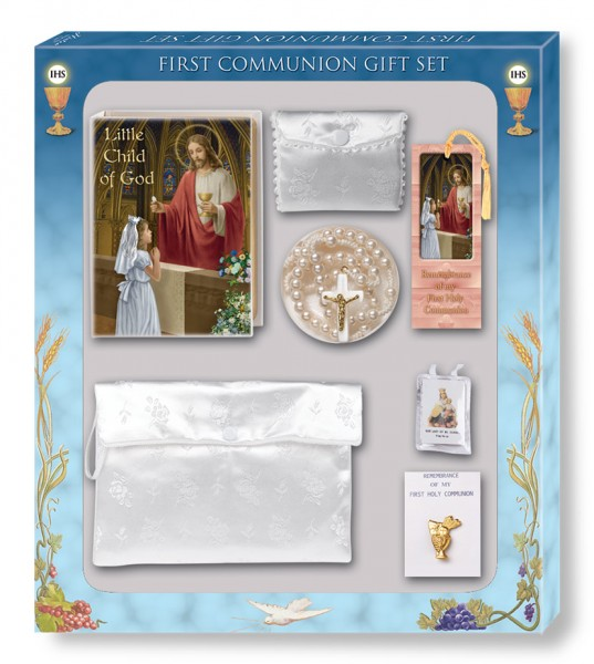 Deluxe First Communion Gift Set - Girl - White