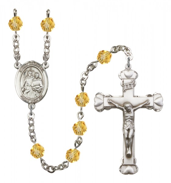 Women's St. Raphael the Archangel Birthstone Rosary - Topaz