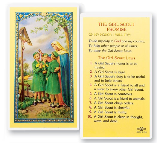 the girl scout promise laminated prayer cards 25 pack. Black Bedroom Furniture Sets. Home Design Ideas