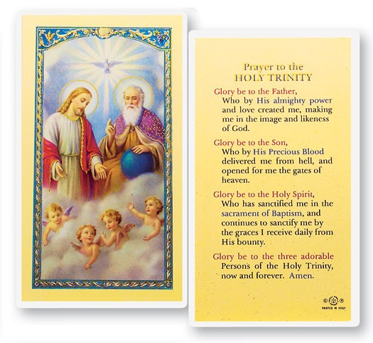 Prayer To Holy Trinity Laminated Prayer Cards 25 Pack - Full Color