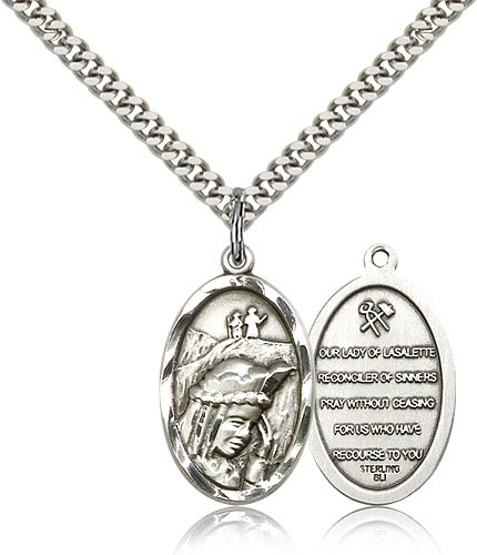 Our Lady of  La Salette Medal - Sterling Silver
