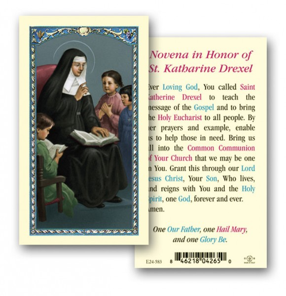 St. Katharine Drexel Laminated Prayer Cards 25 Pack - Full Color