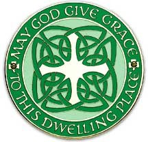 Celtic House Blessing Wall Plaque - 4.25 inches - Green