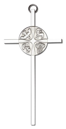 "Christian Life Wall Cross 6"" - Silver tone"