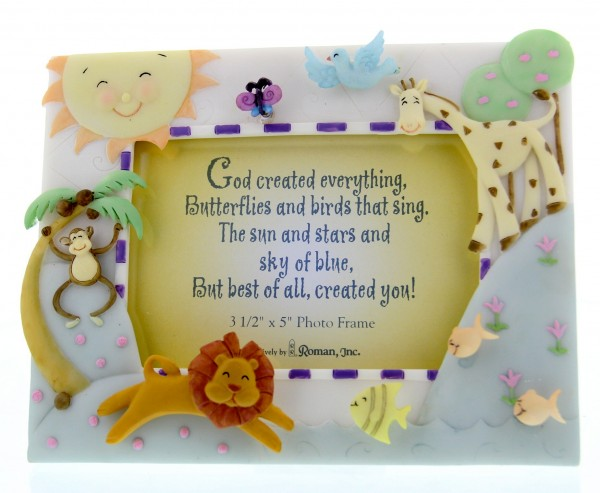 God Created Everything Photo Frame - Multi-Color