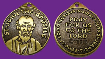 Saint John The Apostle Pendant - Bronze