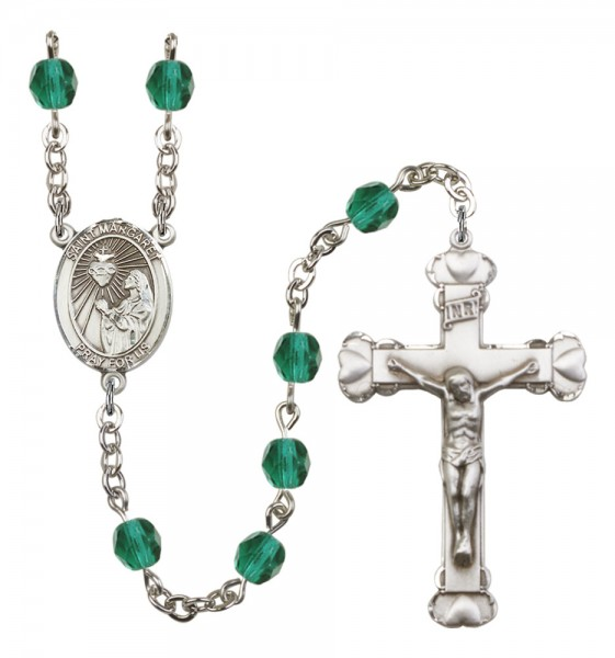 Women's St. Margaret Mary Alacoque Birthstone Rosary - Zircon