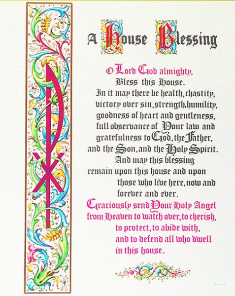 House Blessing Print - Sold in 3 per pack - Multi-Color