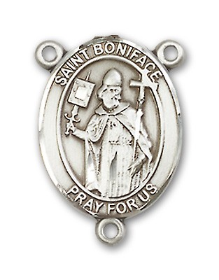 St. Boniface Rosary Centerpiece Sterling Silver or Pewter - Sterling Silver