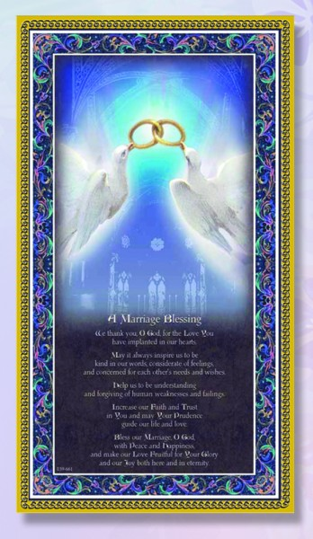 Marriage Blessing Italian Prayer Plaque - Multi-Color