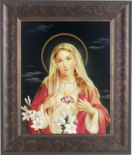 Immaculate Heart of Mary Framed Print - #124 Frame