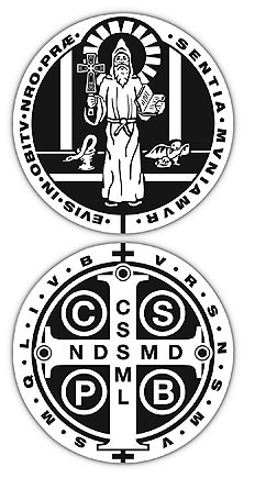 St Benedict Auto Decal 6 Per Order