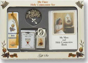 "Girl's 'My First Holy Communion Gift Set"" - White"