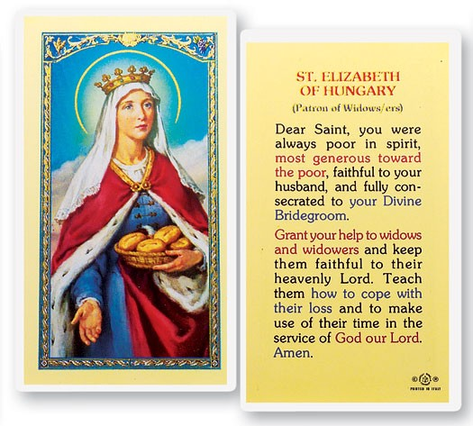 St. Elizabeth of Hungary Laminated Prayer Cards 25 Pack - Full Color