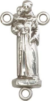 St. Anthony Sterling Silver Rosary Centerpiece - Sterling Silver