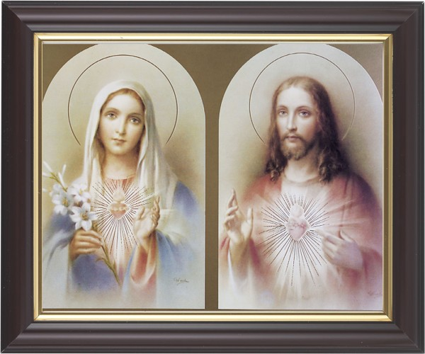 Immaculate Heart of Mary and Sacred Heart of Jesus Framed Print - #133 Frame