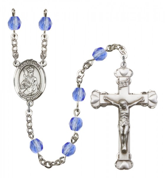 Women's St. Louis Birthstone Rosary - Sapphire