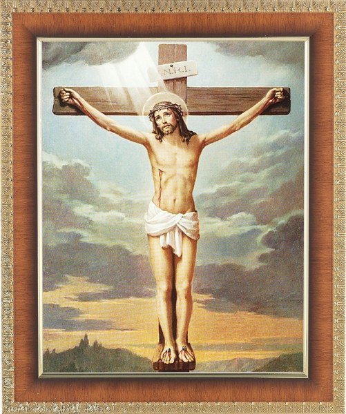Christ's Crucifixion Framed Print - #122 Frame