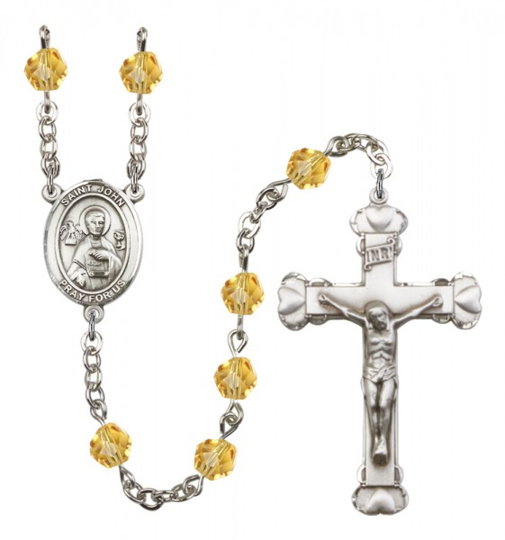 Women's St. John the Apostle Birthstone Rosary - Topaz