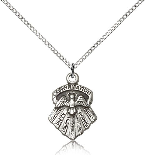 Women's Seven Gifts Confirmation Pendant - Sterling Silver