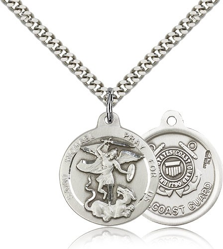 St. Michael the Archangel Coast Guard Medal - Sterling Silver