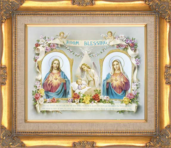 Baby Room Blessing Framed Print - 4 Frame Options Available - #24 Frame