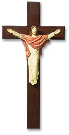 Tomaso Risen Christ Wall Crucifix - Full Color